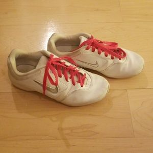 NIKE Cheer Shoes with Hot Pink Laces